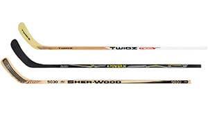 Bâtons de hockey en bois