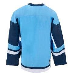 MonkeySports Youth Hockey Jersey - Powder Blue/Navy/White