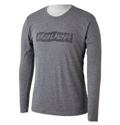 Bauer Blocks of Ice Senior Long Sleeve Tee Shirt