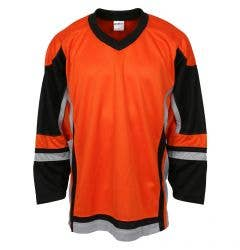 Stadium Adult Hockey Jersey - Orange/Black/Gray