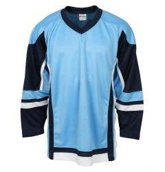 MonkeySports Adult Hockey Jersey - Powder Blue/Navy/White