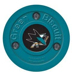 San Jose Sharks Green Biscuit Training Puck