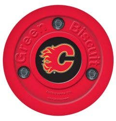 Calgary Flames Green Biscuit Training Puck
