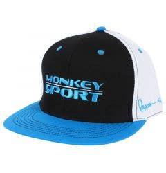 Monkey Sport by Pepper Foster - Racer Stretch Fit Cap (Black/Blue)