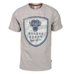 Monkey Sport by Pepper Foster - Protector Adult Short Sleeve Tee Shirt (Grey)