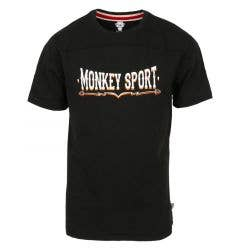 Monkey Sport by Pepper Foster - Vintage Sport Adult Short Sleeve Tee Shirt (Black)