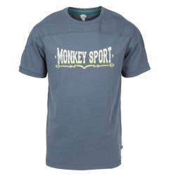 Monkey Sport by Pepper Foster - Vintage Sport Adult Short Sleeve Tee Shirt (Navy)