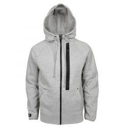 Monkey Sport by Pepper Foster - Urban Team Adult Full Zip Hoody (Heather Grey)