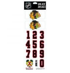 SportStar NHL All In One Helmet Decals Chicago Blackhawks