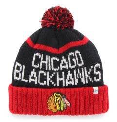 Chicago Blackhawks Old Time Hockey Linesman Pom Beanie