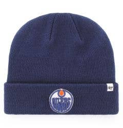 Edmonton Oilers Old Time Hockey Raised Knit Beanie