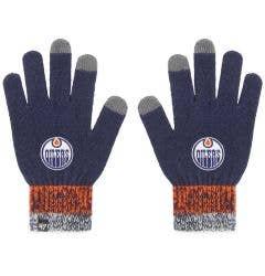 Edmonton Oilers Old Time Hockey Static Winter Gloves