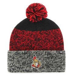 Ottawa Senators Old Time Hockey Static Knit Pom Beanie