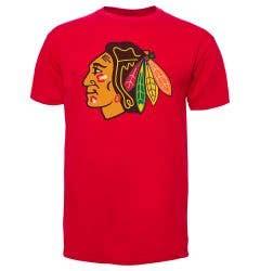 Chicago Blackhawks Old Time Hockey NHL Fan Men's Short Sleeve Shirt