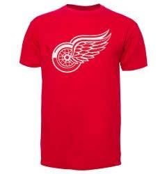 Detroit Red Wings Old Time Hockey NHL Fan Men's Short Sleeve Shirt