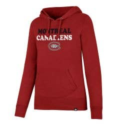 Montreal Canadiens Old Time Hockey Headline Women's Pullover Hoody