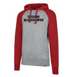 Chicago Blackhawks Old Time Hockey Raglan Sport Men's Pullover Hoody