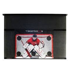 The SportScreen 16ft Manual Screen w/ Detachable Hockey Target