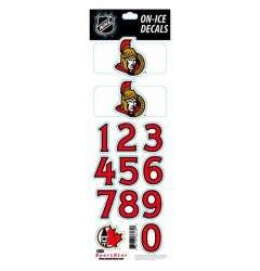SportStar NHL All In One Helmet Decals Ottawa Senators