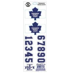 SportStar NHL All In One Helmet Decals Toronto Maple Leafs