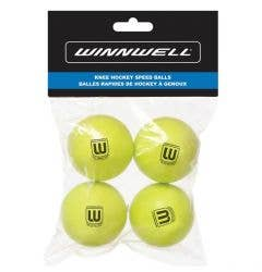 Winnwell 50mm Mini Hockey Ball - 4 Pack