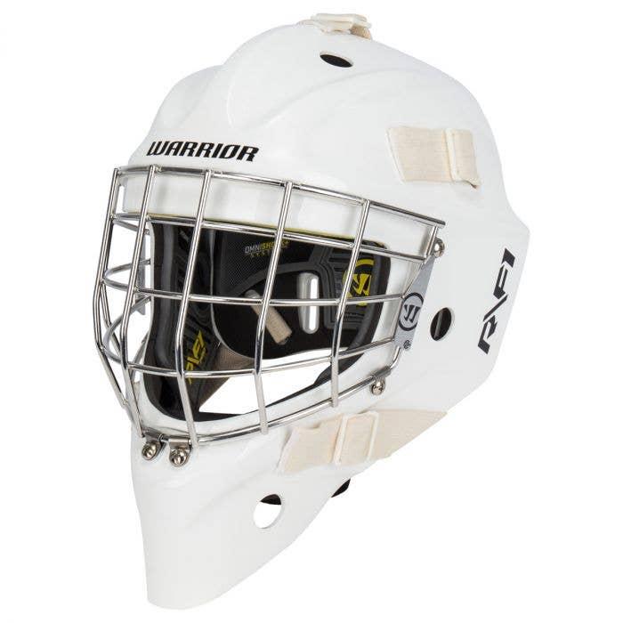 Warrior Ritual R/F1 Pro Certified Straight Bar Goalie Mask