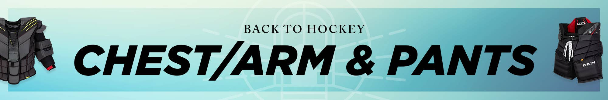 Back to Hockey: Goalie Chest & Arm Protectors and Pants